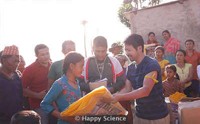 Nepal Earthquake Emergency Relief Activities Happy Science
