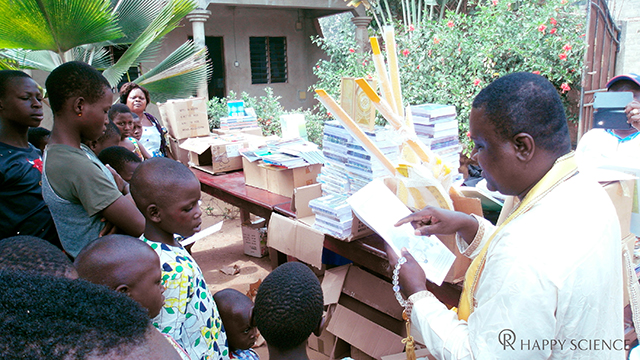 Donated Happy Science books, textbooks, and tuition fees for a Benin Orphanage_02