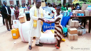 Donated Happy Science books, textbooks, and tuition fees for a Benin Orphanage