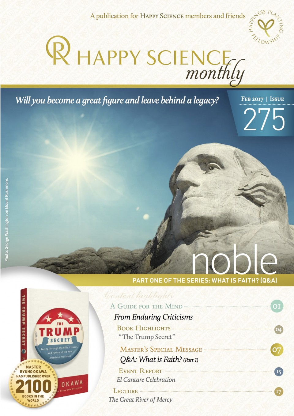 HAPPY SCIENCE Monthly 275 is released!